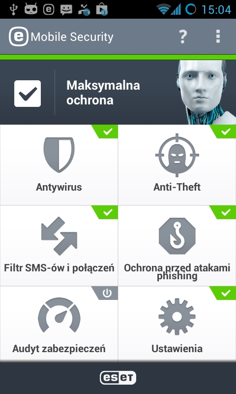 antywirus ESET Mobile Security wersja 3