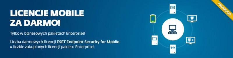 Ochrona firmowych urządzeń mobilnych bezpłatnie w pakiecie od ESET