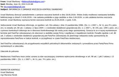 fałszywy email z urzędu skarbowego